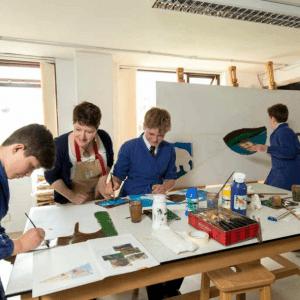 A class at St Peter's enjoy art and craft