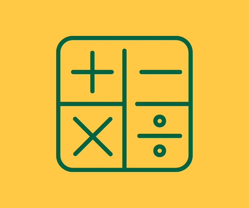 Icon of a maths grid in St Peter's Prep colours