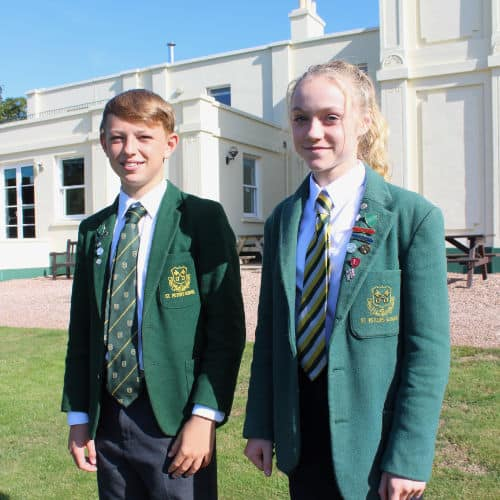 St Peter's prep students.