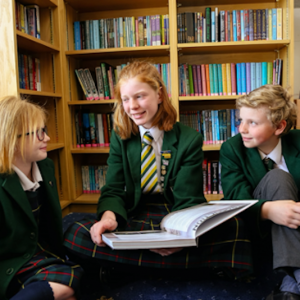 Students reading at St Peter's Prep